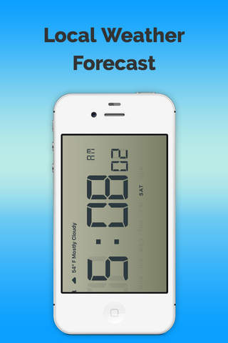 Clock n Local Forecast-Free screen