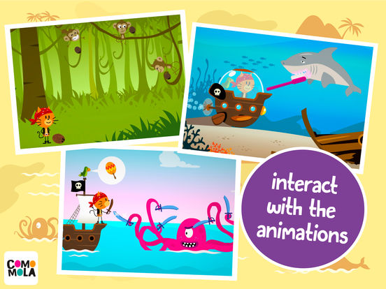 Comomola Pirates - An adventure for kids Screenshots