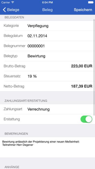 Traveling Expenses iPhone Screenshot 3