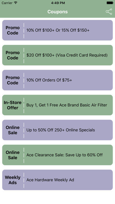 Coupons for Ace Hardware Shopping App-0