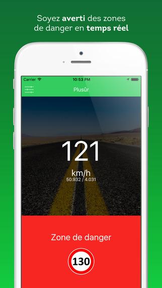 Plusûr : Radars, Zones de danger, Limitations de vitesse & Accidents Screenshots