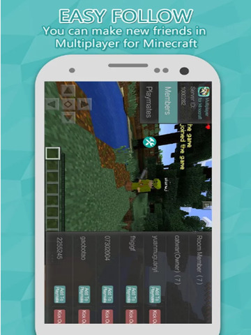 Multiplayer for mincraft PE Free Screenshots