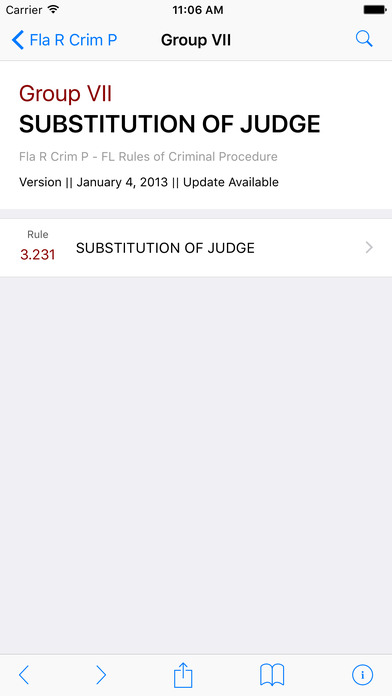 Florida Rules of Criminal Procedure (FL Law) iPhone Screenshot 2