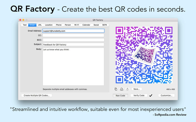 QR Factory Screenshot