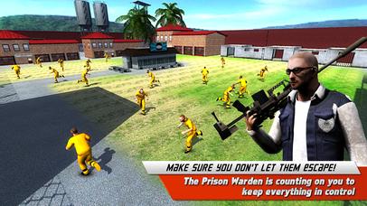 逃避的使命警方狙击手射击游戏3D - 恶魔岛监狱守卫监狱突围刑事射击游戏。