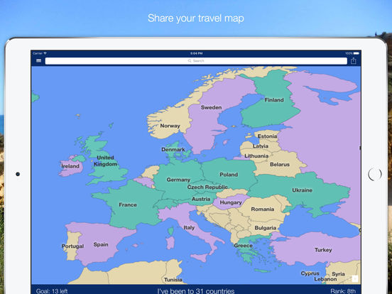 Visited World map to track where you have been and want to visit – Where I Have Traveled Map