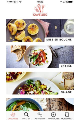 Saveurs, plus de 3000 recettes inratables, gourmandes et raffinées screenshot 1