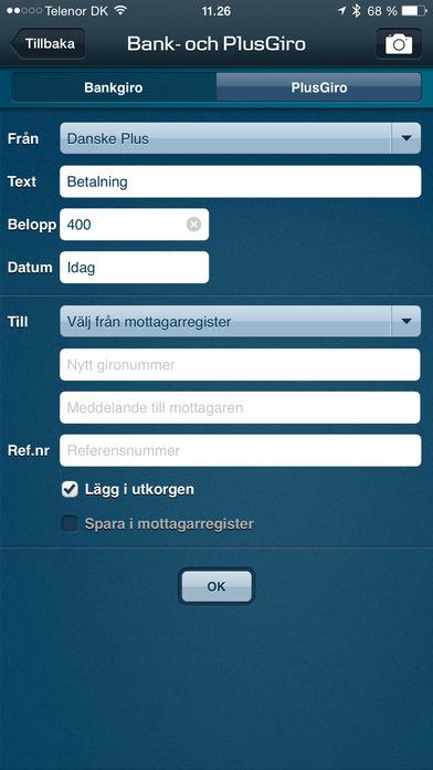Danske Mobilbank SE iPhone Screenshot 3