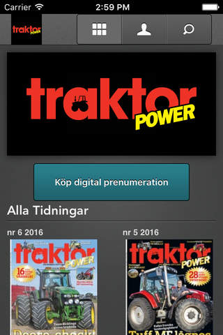 Traktor Power e-tidning screen