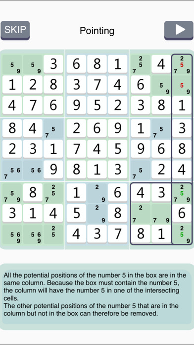 Sudoku Institute - show solving techniques step by step Screenshot