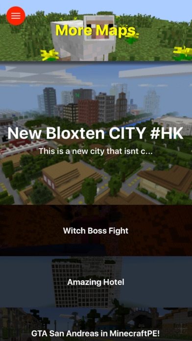 Screenshots of City Maps for Minecraft PE - The Best Maps for Minecraft Pocket Edition (MCPE) for iPhone