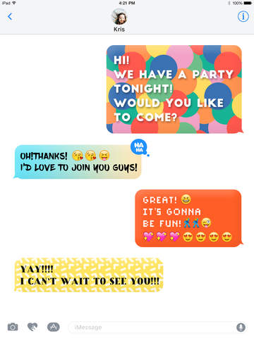 Color Text Messages- colorful texting & customizer background effect Screenshots
