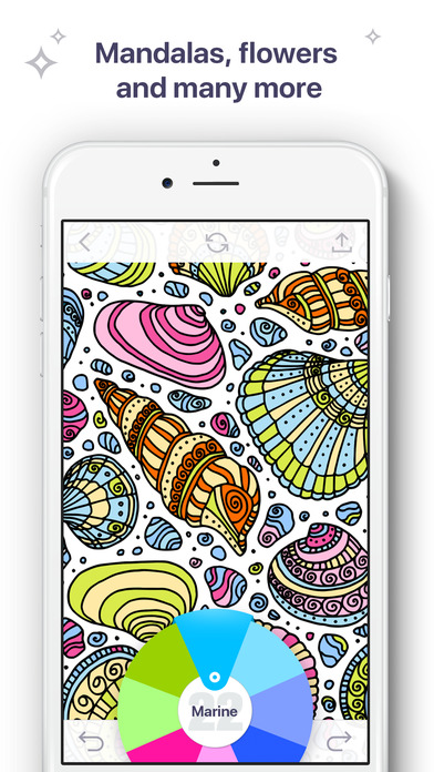 Coloring Book for Me - Beautiful game for adults with coloring pages, relaxing pictures, patterns & mandalas
