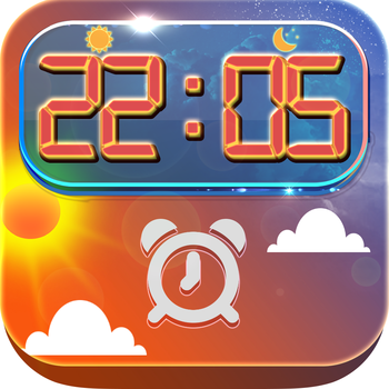 Clock Sunny & Sunset Alarm : Music Wake Up Wallpapers , Frames and Quotes Maker For Pro