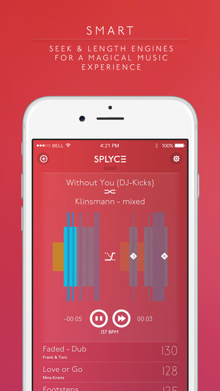 Splyce - fancy music player with automix. Pulselocker Edition! Screenshots