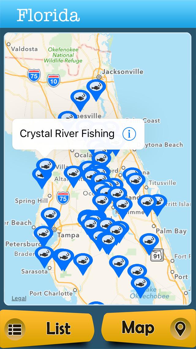 App shopper florida fishing lakes boat ramps travel for Florida fishing app