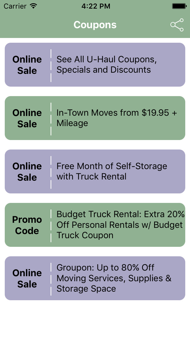 U-Haul Discounts and Specials. View all of our current discounts, specials and coupons for trucks, trailers, storage, hitches, propane, boxes and moving supplies. Discounts and specials as of December 04, Hitches and Towing. Take your vehicle to a U .