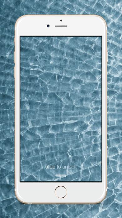 Screenshots of Broken Screen Wallpaper -  Cracked Screen Prank & Crack My Screen Shattered Screen for iPhone