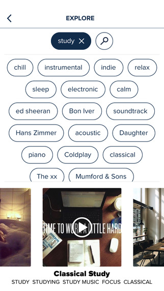 8tracks playlist radio - Free music app Screenshots