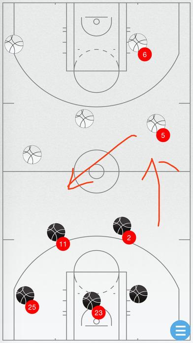 Basketball Tactics Board iPhone Screenshot 1