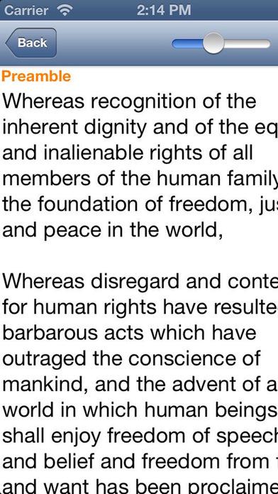 UDHR Universal Declaration of Human Rights iPhone Screenshot 2