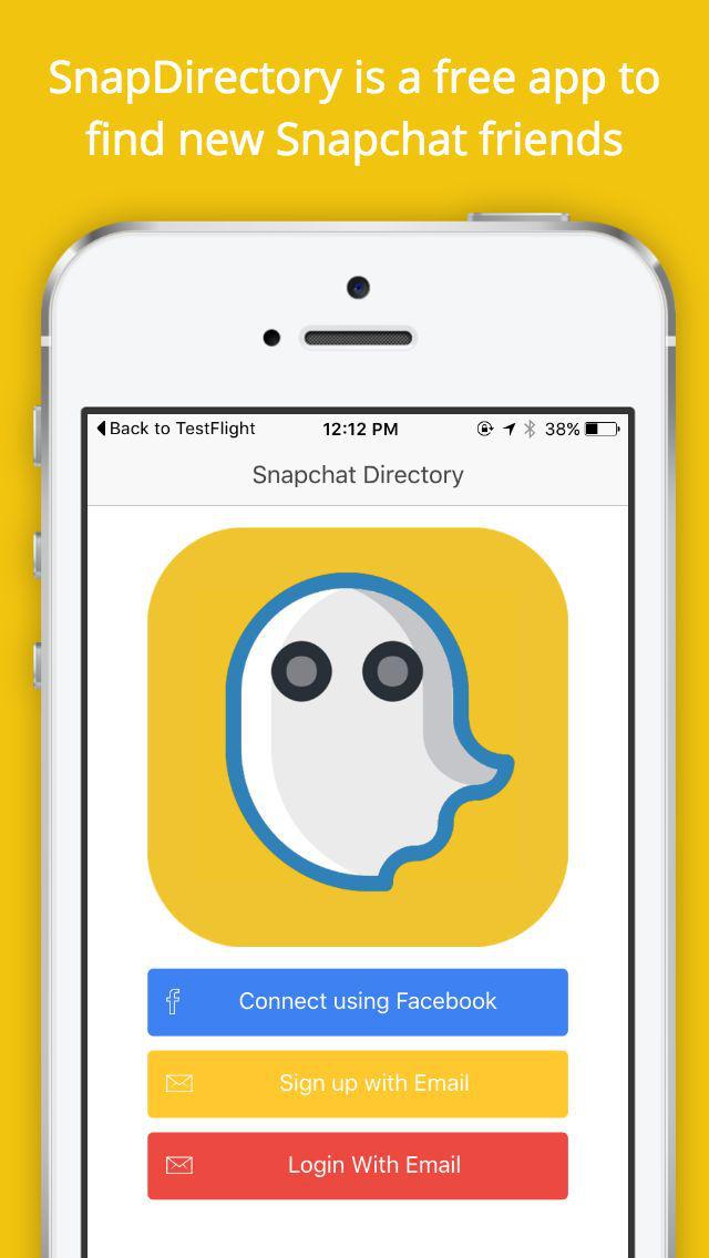 Snapchat directory