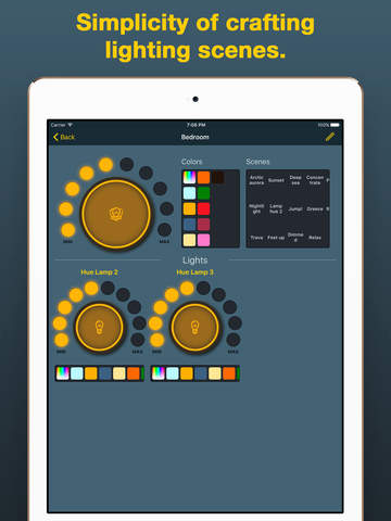 iHue for Philips Hue - easy remote control of light. Screenshots