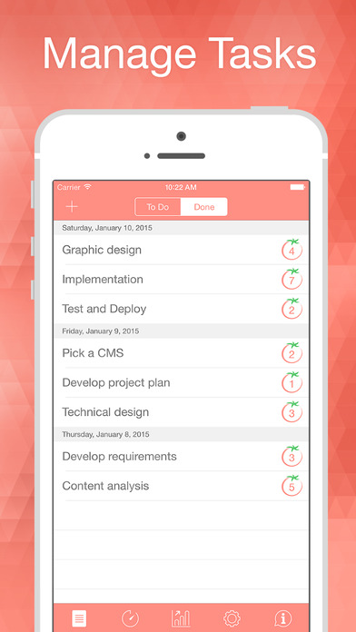 Be Focused Pro - Focus timer & Goal Tracker Apps for iPhone/iPad screenshot