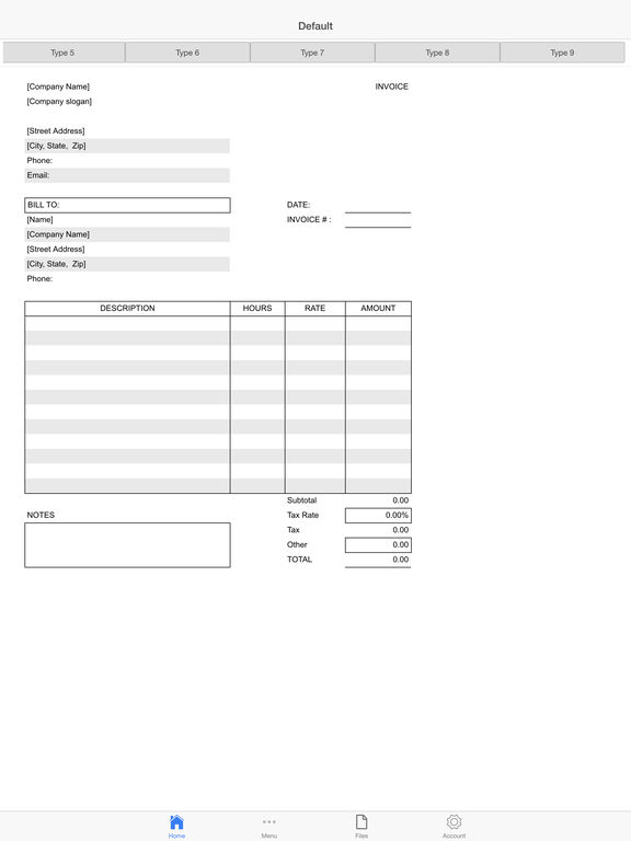 Auto Repair Invoice Screenshots