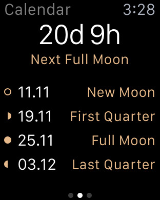 Full Moon - Moon Phase Calendar and Lunar Calendar Screenshots