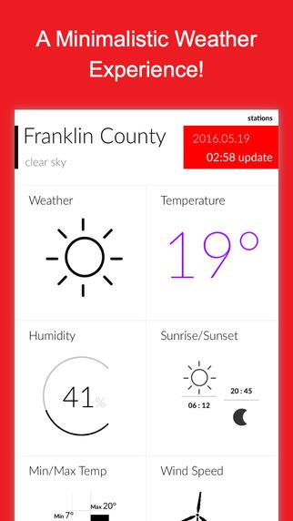 YoCelsi - Minimalist Weather & Local Storm Conditions Screenshots