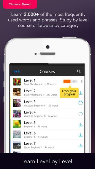 Learn Dutch Vocabulary - WordPower iPhone Screenshot 1
