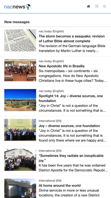New Apostolic Church news iPhone Screenshot 1
