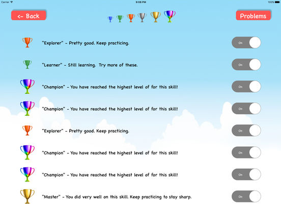 Math Fact Workout by NumberShapes Screenshots