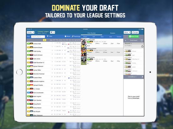 Footballguys Fantasy Football Draft Dominator 2016 screenshot 6