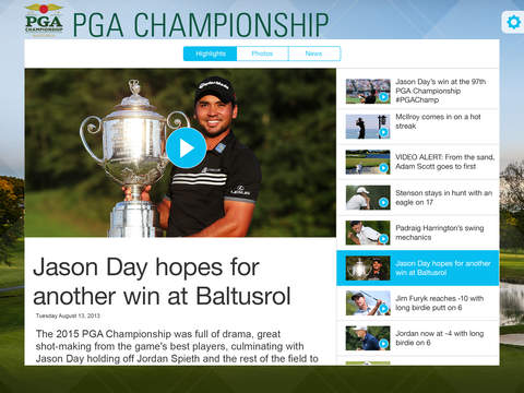 PGA Championship iPad Screenshot 5