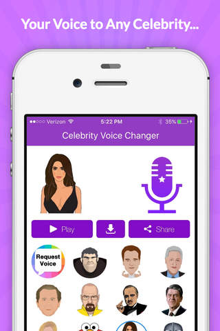 Imitation celebrity voices soundboard