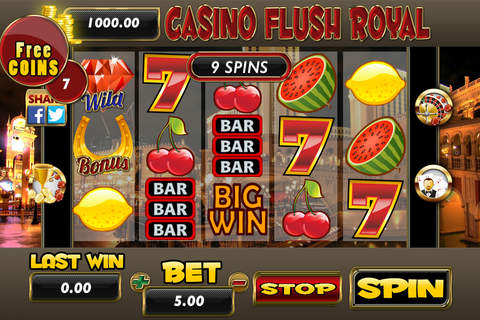 A Aaba Casino Flush Royal Slots, Roulette and Blackjack 21 screenshot 1