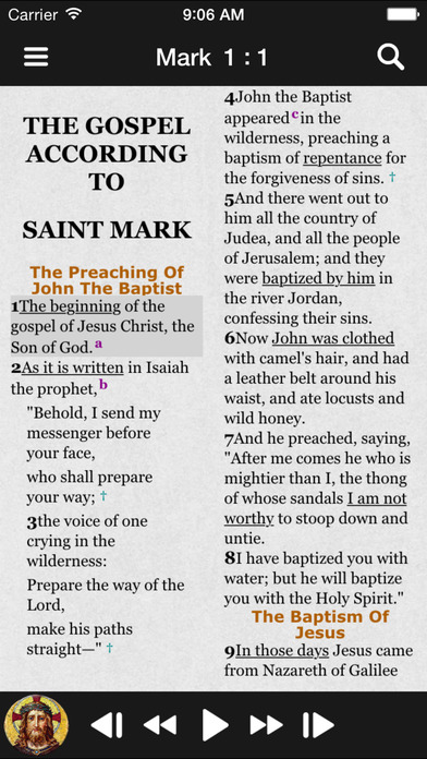 Truth & Life Dramatized Audio Bible™ - Mark iPhone Screenshot 1