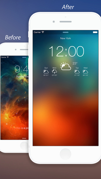 Weather Lock Screen Designer Plus- Customize your Lock Screen & Backgrounds Screenshots