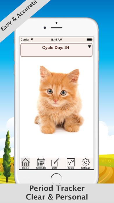 Free Menstrual Calendar iPhone Screenshot 1