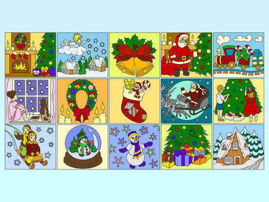 Раскрась по номерам – Рождество