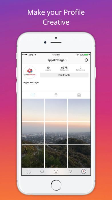 App shopper grid style for instagram instagrid post for Tile layout app