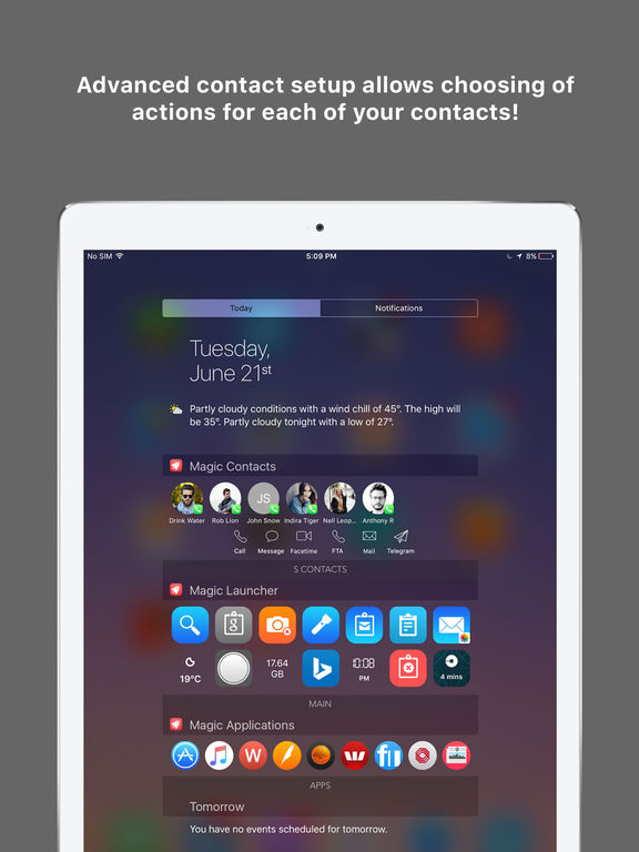 Magic Launcher Pro - Launch anything instantly from the Today Widget Screenshots