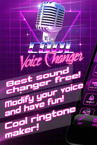Cool Voice Changer Ringtone Maker - Best Sound Modifier and Audio Recorder with Effects screen
