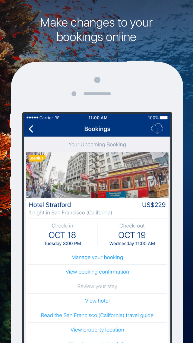 Screenshots of Booking.com for iPhone