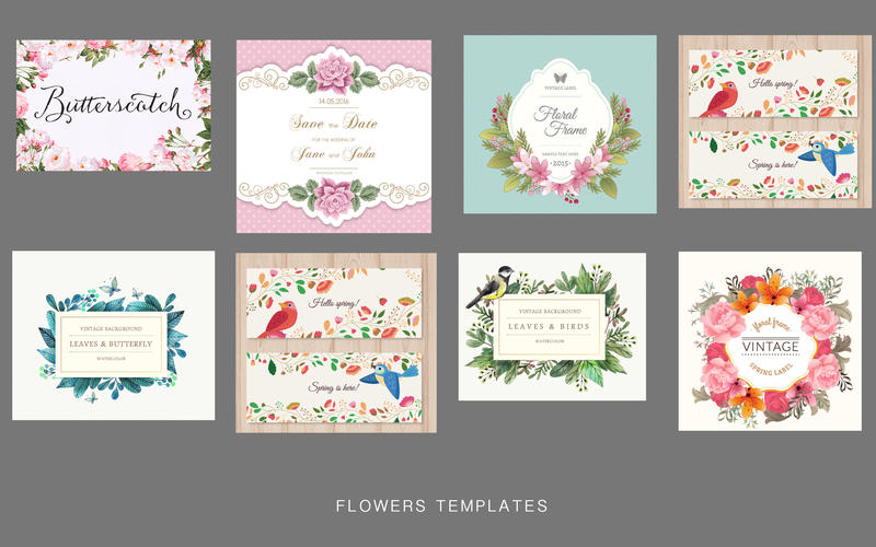 Flower templates for Adobe screen