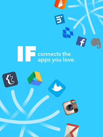 Screenshots of IFTTT for iPad