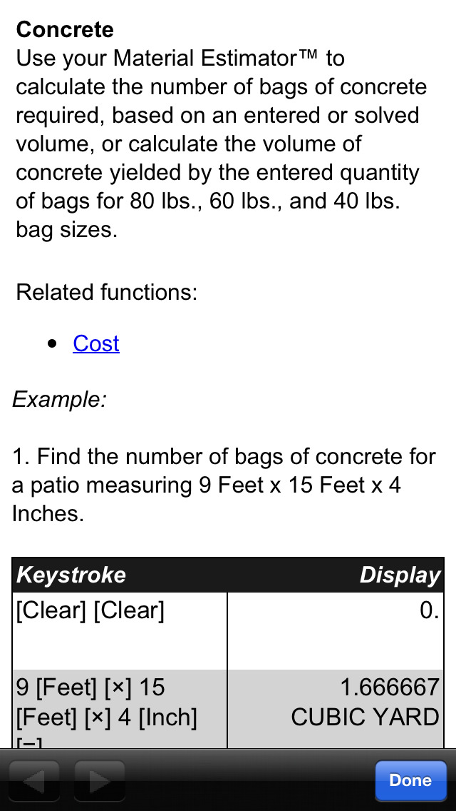 App shopper material estimator feet inch fraction for Material cost to build a house calculator
