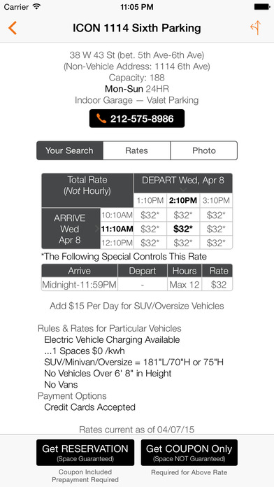 Icon parking systems coupons